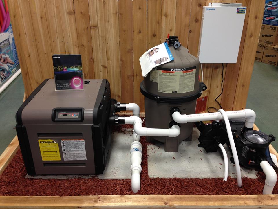 Hayward Pump, Filter & Heater Display