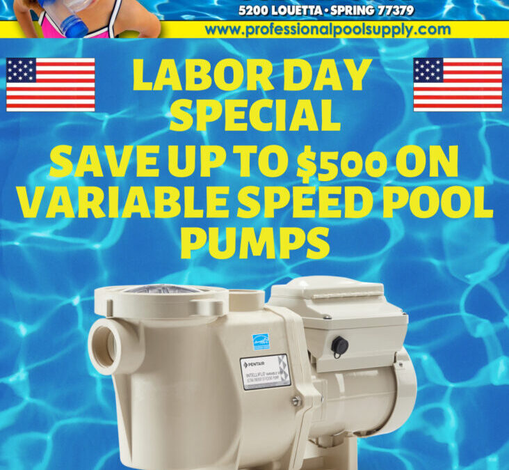 Labor Day 2020 Special – Save up to $500 on Variable Speed Pool Pumps